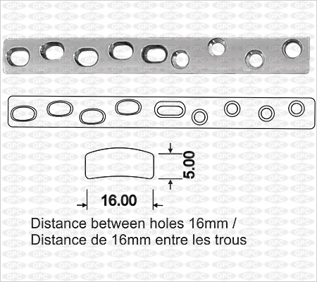 Broad Compression Plate ACP Holes